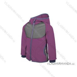 Bunda s fleecom softshellová černicová dojčenská detská dievčenské (86-110) UN18014