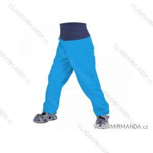 Nohavice softshellové bez zateplenia dojčenské detské chlapčenské tyrkysové (86-104) UN18026-SLIM