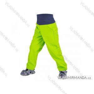 Nohavice softshellové bez zateplenia dojčenské dievčenské aj chlapčenské limetkovej (68-98) UN18032