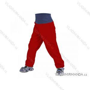 Nohavice softshellové bez zateplenia dojčenské dievčenské aj chlapčenské bordo červené (68-98) UN18037