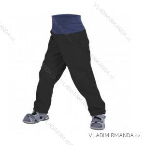 Nohavice softshellové bez zateplenia dojčenské detské dievčenské aj chlapčenské čierne (86-104) UN18038-SLIM 8596227042616