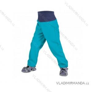 Nohavice softshellové bez zateplenia dojčenské detské dievčenské aj chlapčenské aqua (86-104) UN18039-SLIM 8596227042685