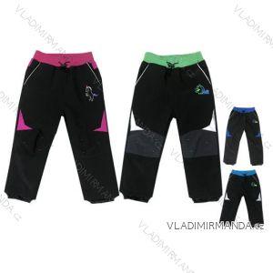 Nohavice softshell slabé jarné dojčenské detské dievčenské a chlapčenské (86-110) KUGO B915