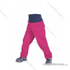 Nohavice softshellové bez zateplenia dojčenské detské dievčenské malinovej (86-104) UN18049-SLIM-8596227042753