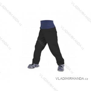 Nohavice softshellové bez zateplenia dojčenské dievčenské aj chlapčenské čierne (68-98) UN18052 8596227042586