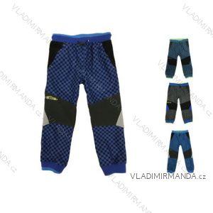 Nohavice outdoor manšestrové bavlnené jarné dojčenské detské chlapčenské (80-110) KUGO M5003