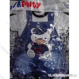 Súprava tričko + traky džínsové dojčenská chlapčenská (74-98) výroba v Turecku TUR418002