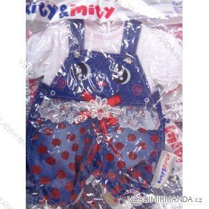 Súprava tričko + traky džínsové dojčenská dievčenské (74-98) výroba v Turecku TUR418003