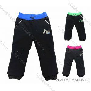 Nohavice softshell jarné dojčenské detské chlapčenské dievčenské (74-104) KUGO B605