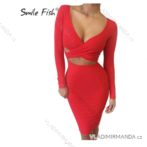 Šaty mini sexy dlhý rukáv dámske (s-xl) AFASHION AF18060