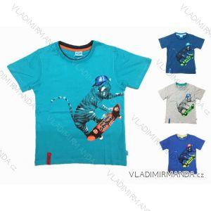 Tričko krátky rukáv detské a dorast chlapčenské bavlnené (116-146) KUGO T2010