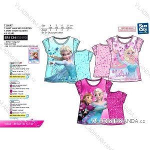 Tričko krátky rukáv frozen detské dievčenské bavlnené (4-8 rokov) SUN CITY ER1124