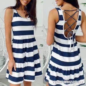 Šaty bez rukávov prúžok dámske (uni sl) Talianska MODA IMC18644