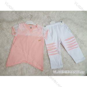 Súprava tričko krátky rukáv + legíny dlhé dojčenská dievčenské (2-5 rokov) výroba v Turecku TUR41803879