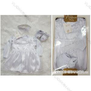 Šaty Křtínová komplet (4 ks) dojčenský dievčenské (0-6 mesiacov) výroba v Turecku TUR418901