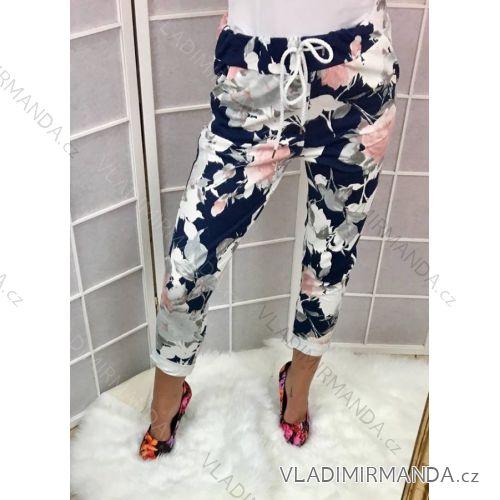 Tepláky nohavice dlhé kvetované dámske (sl) TALIANSKÁ MÓDA IMC18997 ... 55d1df2f50