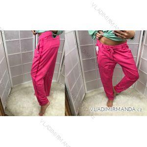 Nohavice dlhé tenké s perličkami letné dámske (xl) Talianska MODA IM518056