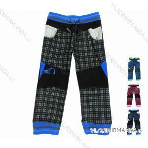 Nohavice manžestr outdoor bavlnené tenké dojčenské detské chlapčenské dievčenské (74-110) KUGO M5001
