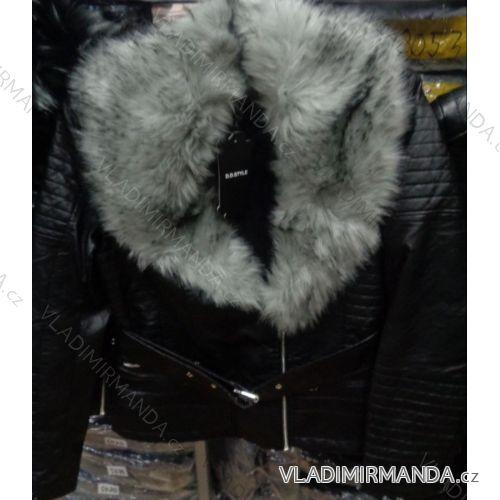 Bunda koženková s kožušinkou dámska (xs-xl) DD STYLE F665-1 ... 6531f60bde