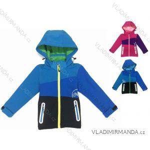 Bunda softshell zateplená s fleecom dojčenská detská dievčenská a chlapčenská (80-110) KUGO B521