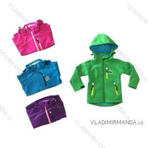 Bunda softshell zateplená s fleecom dojčenská detská dievčenská a chlapčenská (86-110) KUGO B5502A