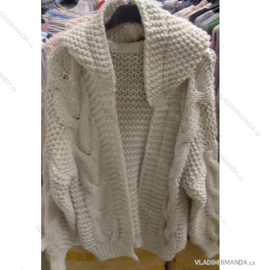 251c8112d89b Cardigan pletený sveter dlhý rukáv s kapucňou dámsky (uni sl) Talianska  MODA IMC181095