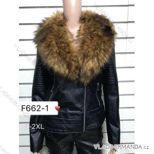 Bunda koženková s kožušinkou dámska (s-2-xl) DD STYLE F662- c8f2c28120