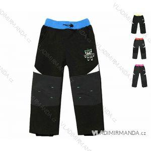 Nohavice softshell zateplené flaušom dojčenské detské chlapčenské dievčenské (74-98) KUGO S7001A