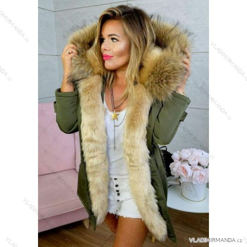 Kabát zimné parka s kožušinkou dámska (sl) KZELL TALIANSKÁ MÓDA IM918460 e8e35d97beb