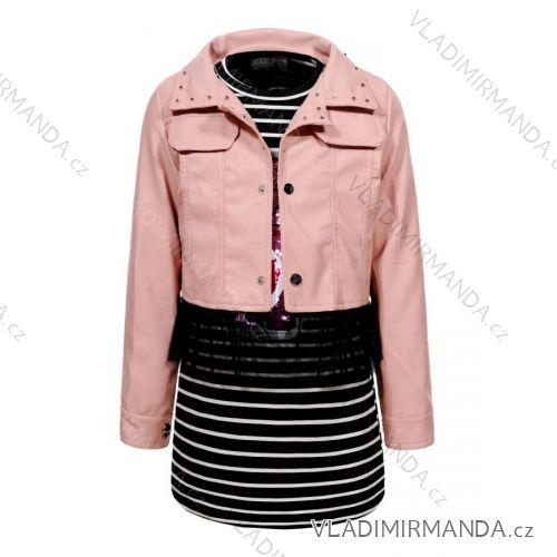 a8c1dae07 Set koženková bunda a šaty detské a dorasteneckej dievčenské (110-160) GLO-
