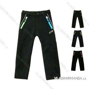 Nohavice softshell dojčenské detské dievčenské a chlapčenské s flaušový podšívkou (80-110) KUGO S6105