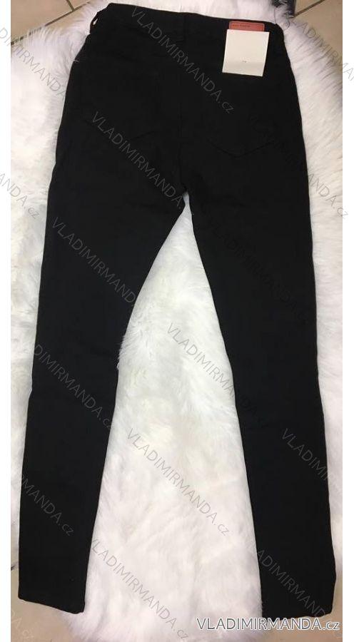 565735d15735 Nohavice riflové dámske skinny (34-42   čierne) MISS ANNA IM918E04 ...