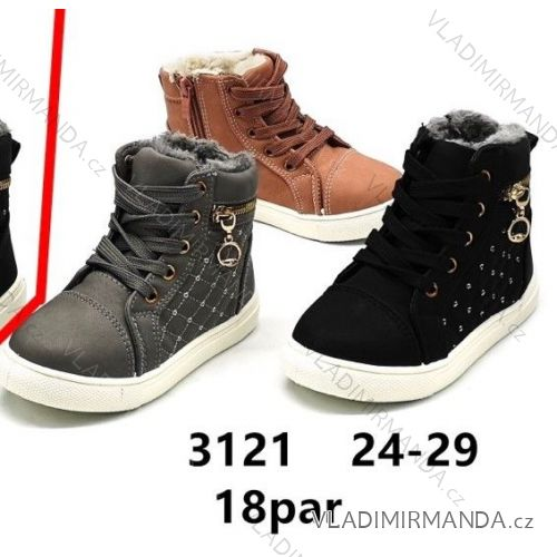 Topánky členkové s kožušinkou detské dorast dievčenské (24-29) OBUV  OB2183121 f1123c0fe41