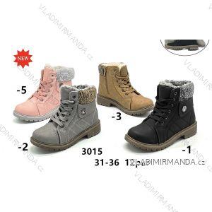 Topánky členkové s kožušinkou detské dorast dievčenské (31-36) OBUV OB2183015