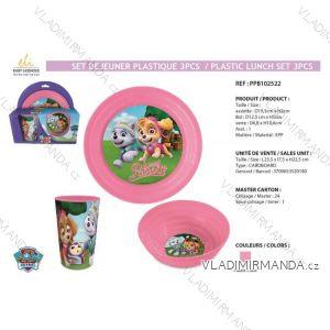 Jedálenský set paw patrol detský dievčenské (3 diely) SUN CITY PPB102522