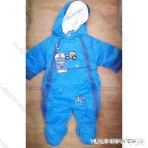 Kombinéza zimná nepremokavá šuštiaková dojčenská a detská dievčenská a chlapčenská (9-12m) PENG MING TM21825