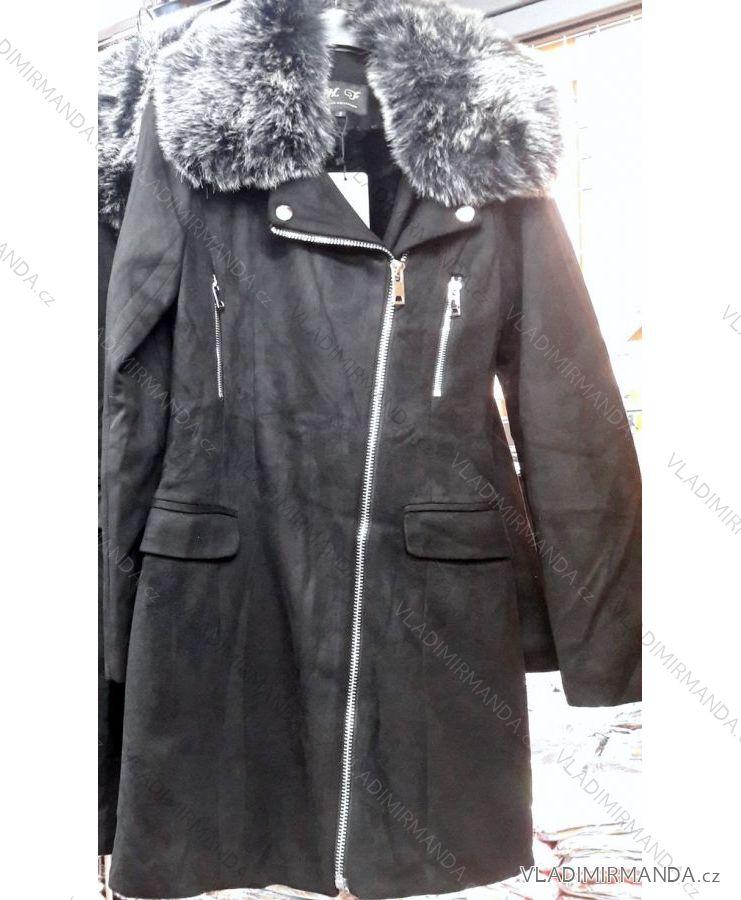 Kabát brúsená koženka s kožušinkou dámska (s-xl) FRANCÚZSKO IMT18803 ... c4f09953dd