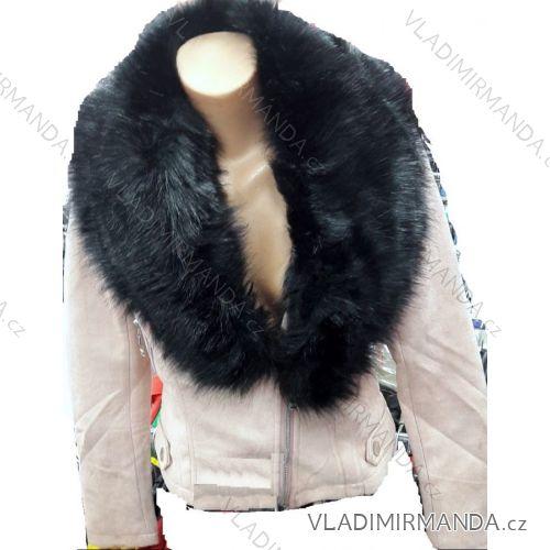 Bunda brúsená koženka s kožušinkou dámska (s-xl) FRANCÚZSKO IMT18804 ... 18ca143704