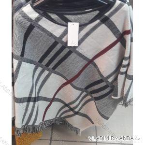 Pončo teplé kockované dámske (one size) Talianska MODA IM318605