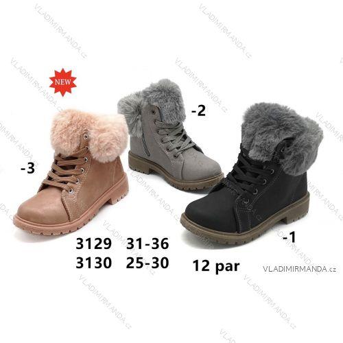 Topánky členkové s kožušinkou detské dievčenské (25-30) OBUV OB2183130 d3e93281156