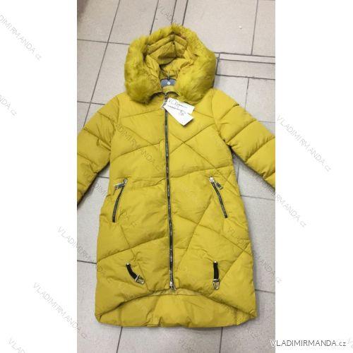 a96b5303c0 Kabát dlhý zimný dámsky prešívaný vypasovaný strih s kožušinkou (s-2xl)  Poľsko MODA