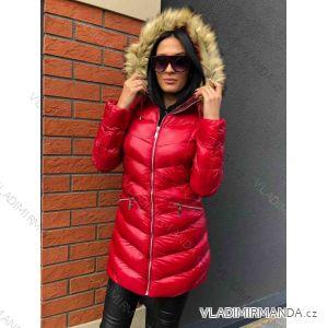 Kabát zimné s kožušinkou dámsky prešívaný (sml) MFASHION MF18118 437ba1c502a