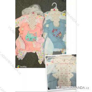 Súprava body, čiapky, tepláky, podbradník, overal, tričko dojčenská dievčenské a chlapčenské (3-9 mes) AODA AOD18004