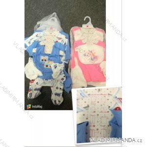 Súprava body, čiapky, tepláky, podbradník, overal, tričko dojčenská dievčenské a chlapčenské (3-9 mes) AODA AOD18005