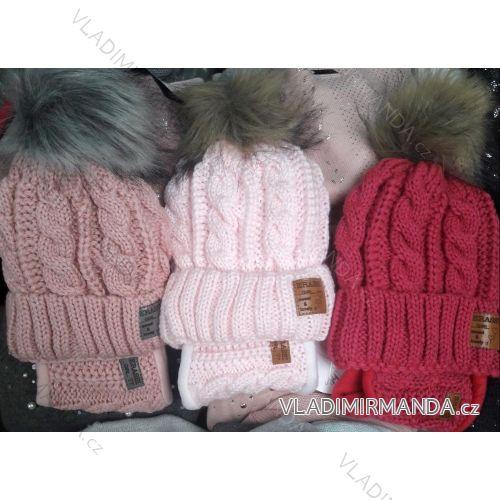 5db555e6f Set čiapky a nákrčník zimné detský dievčenský (uni 9-16 rokov) POĽSKO  PV618075