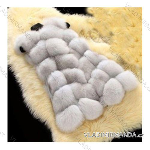 9136ea5ad9 Vesta kožúšok zimné dámsky s koženkovými vreckami teplá umelá kožušina  (s-4XL) AFASHION