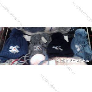 Čiapky zimné s brmbolcom zateplená flaušom dojčenská chlapčenská (uni 44-46) POĽSKO PV718004