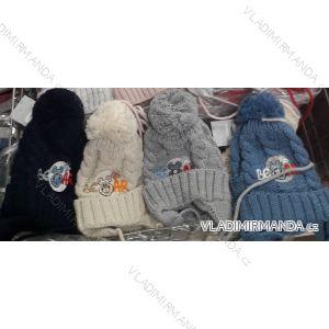 Čiapky zimné s brmbolcom zateplená flaušom dojčenská chlapčenská (uni 44-46) POĽSKO PV718001