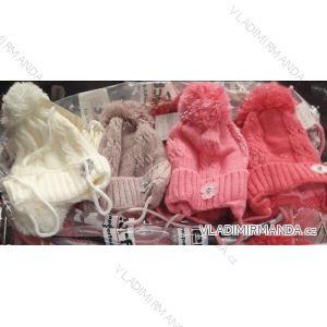Čiapka s brmbolcom zimné dojčenská dievčenské (uni 44-46) POĽSKO PV718005