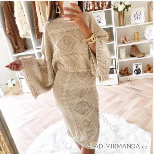 bea7a99a76c4 Súprava sveter sukne pletené dlhý rukáv dámske (uni sl) TALIANSKÁ MÓDA  IM418791
